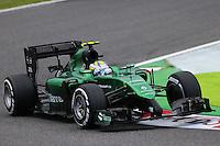 Marcus Ericsson (SWE) Caterham CT05.<br /> Japanese Grand Prix, Friday 3rd October 2014. Suzuka, Japan.