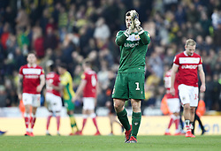 Frank Fielding of Bristol City applauds the travelling fans - Mandatory by-line: Arron Gent/JMP - 23/02/2019 - FOOTBALL - Carrow Road - Norwich, England - Norwich City v Bristol City - Sky Bet Championship
