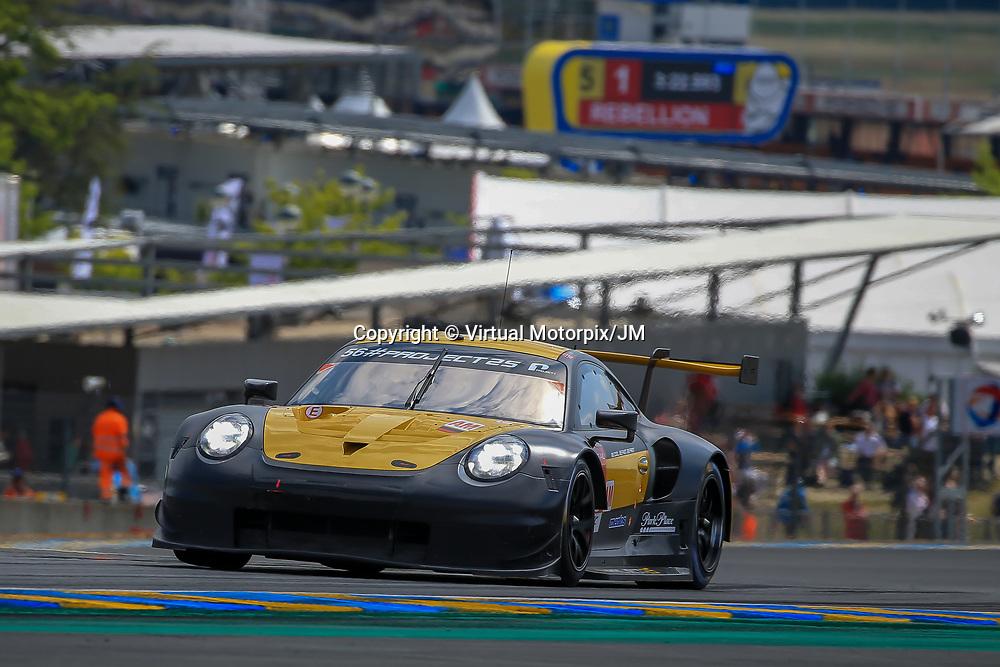 #56, Team Project 1, Porsche 911 RSR, LMGTE Am, driven by:  Jorg Bergmeister, Patrick Lindsey, Egidio Perfetti, 24 Heures Du Mans  2018, , 13/06/2018,