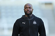Jetro Willems (#15) of Newcastle United arrives ahead of the Premier League match between Newcastle United and Southampton at St. James's Park, Newcastle, England on 8 December 2019.