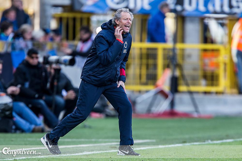 BRUGGE - Club Brugge - Zulte Waregem , Voetbal , Seizoen 2016/2017 , Jupiler Pro League Belgie Play-off 1 , Jan Breydel Stadion , 01-04-2017 , Brugge trainer Michel Preud Homme
