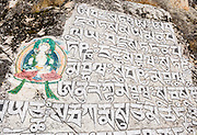 "In Nepal, Buddhist prayers have been inscribed in the rocks of Sagarmatha National park, a World Heritage Site. Published in ""Light Travel: Photography on the Go"" book by Tom Dempsey 2009, 2010."