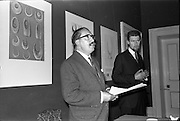 17/06/1963.06/17/1963.17 June 1963.1963 Irish Packaging Competition, reception at the Shelbourne Hotel. The Irish Packaging Institute aimed to raise the standard of packing design and business graphic design in Ireland and held competitions to encourage designers and to aid Irish industry..The 1963 award was sponsored by Hely-Thom Ltd. and named the Hely-Thom Perpetual Award.  Mr. E.G.O. Ridgwell, General Manager, Irish Packaging Institute, speaking, with Mr. Michael Hilliar, designer of the award.