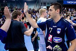 Dragan Gajic of Slovenia at men handball match in Qualifications for European Championship Austria 2010 between National Teams of Slovenia and Belarus, on June 10, 2009, in Kodeljevo, Ljubljana,  Slovenia. Slovenia won 38:26. (Photo by Vid Ponikvar / Sportida)