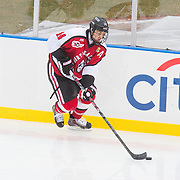 Braden Pimm #14 of the Northeastern Huskies in action during the Frozen Fenway game between The Northeastern Huskies and The UMass Lowell Riverhawks at Fenway Park on January 11, 2014 in Boston, Massachusetts.