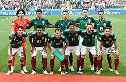 MOSCOW, June 17, 2018  Players of Mexico pose for a group photo prior to a group F match between Germany and Mexico at the 2018 FIFA World Cup in Moscow, Russia, June 17, 2018. (Credit Image: © Xu Zijian/Xinhua via ZUMA Wire)