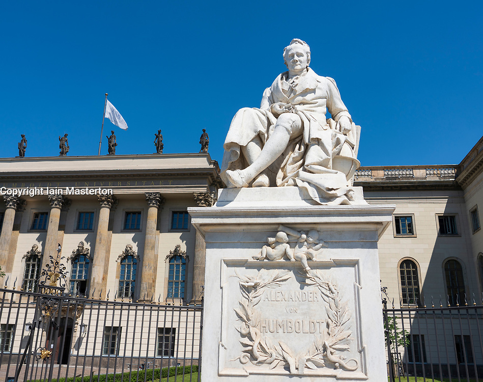 Statue of Alexander von Humboldt at Humboldt University in Berlin, Germany