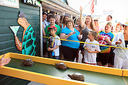 Key West, Florida.  Turtle race at Turtle Kraal restaurant.