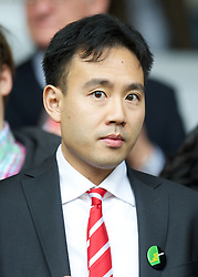 LIVERPOOL, ENGLAND - Saturday, October 20, 2012: Liverpool's Director of Communications Jen Chang during the Premiership match against Reading at Anfield. (Pic by David Rawcliffe/Propaganda)