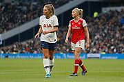 Rianna Dean and Leah Williamson in action during the FA Women's Super League match between Tottenham Hotspur Women and Arsenal Women FC at Tottenham Hotspur Stadium, London, United Kingdom on 17 November 2019.