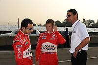 Ryan Briscoe, Helio Castroneves, Honda 200, Mid-Ohio Sports Car Course, Lexington, OH USA  8/9/08