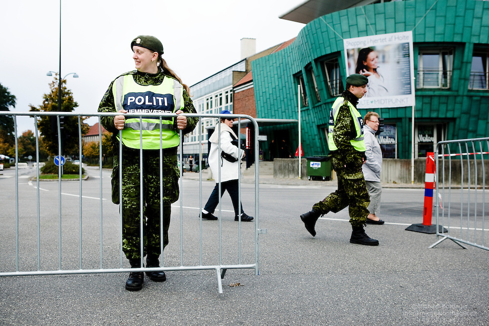 The Danish Home Guard Police assists at the UCI Road Cycling World Championships 2011 in Denmark