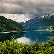The Røldal lake in Hordaland, Norway.