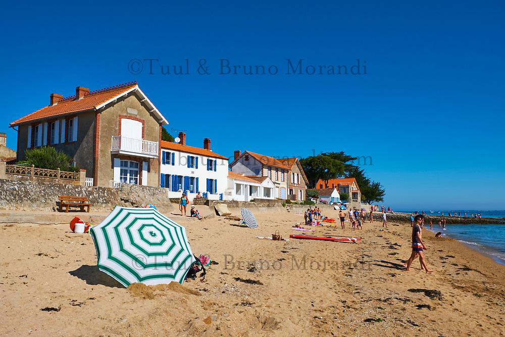 France, Vendée (85), Noirmoutier, plage au hameau du Vieil // France, Vendée, Noirmoutier, Le Vieil beach