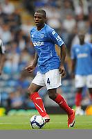 Fotball<br /> England<br /> Foto: Fotosports/Digitalsport<br /> NORWAY ONLY<br /> <br /> Aaron Mokoena (Portsmouth) in action <br /> <br /> 15.08.09 Portsmouth v Fulham Barclays Premier League Fratton Park