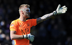 Southend United's Daniel Bentley - Photo mandatory by-line: Harry Trump/JMP - Mobile: 07966 386802 - 18/04/15 - SPORT - FOOTBALL - Sky Bet League Two - Exeter City v Southend United - St James Park, Exeter, England.