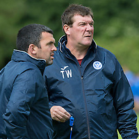 St Johnstone FC Training….Manager Tommy Wright and assistant Callum Davidson pictured during pre-season training.<br />Picture by Graeme Hart.<br />Copyright Perthshire Picture Agency<br />Tel: 01738 623350  Mobile: 07990 594431