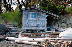 Boat House on Yellow Island, San Juan Islands, Washington, US