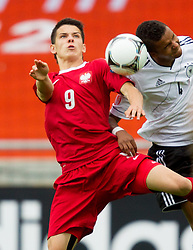 Mariusz Stepinski of Poland vs Marian Sarr of Germany during the UEFA European Under-17 Championship Semifinal match between Germany and Poland on May 13, 2012 in SRC Stozice, Ljubljana, Slovenia. Germany defeated Poland 1-0 and qualified to finals. (Photo by Vid Ponikvar / Sportida.com)
