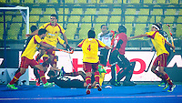 LUCKNOW (India) -   Junior World Cup hockey  U21 for men .  Spain v New Zealand. Spain scored in the fog. COPYRIGHT  KOEN SUYK