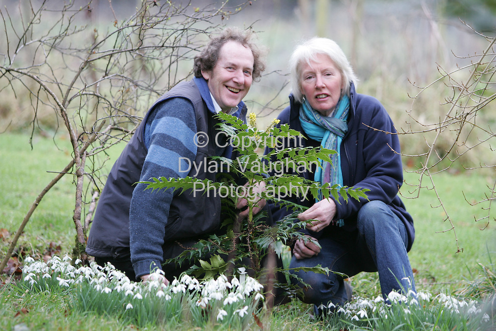 12/2/2006.Robert and Mary White pictured working in the garden at their  home in County Carlow..Picture Dylan Vaughan