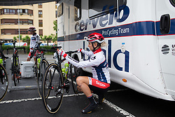 Christina Perchtold (AUT) of Cervélo-Bigla Cycling Team warms up for Stage 2 of the Emakumeen Bira - a 90.8 km road race, starting and finishing in Markina Xemein on May 18, 2017, in Basque Country, Spain. (Photo by Balint Hamvas/Velofocus)