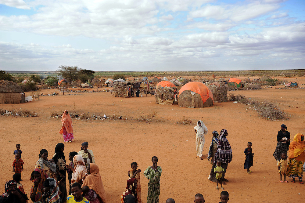 Belet Amin, a camp for internally displaced Somalis near the border with Kenya. The camp was set up for people fleeing the fighting in Somalia in 1997. 26/6/2008