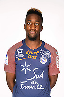 Isaac Mbenza during photoshooting of Montpellier Herault  for new season 2017/2018 on September 3, 2017 in Montpellier<br /> Photo : Mhsc / Icon Sport