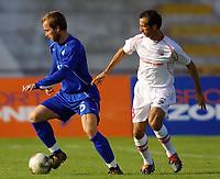 Football,  24-09-2003, OLAFUR STINGSSON  and JOAO SANTOS, UEFA entre o U.D. Leiria e o Molde F.K <br /> (PHOTO BY: AFCD/NUNO ALEGRIA, DIGITALSPORT