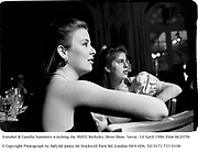 Annabel & Camilla Summers watching the NSPCC Berkeley Dress Show. Savoy. 14 April 1986. Film 86207f6<br />© Copyright Photograph by Dafydd Jones. 66 Stockwell Park Rd. London SW9 0DA. Tel 0171 733 0108