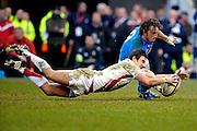 © Filippo Alfero<br /> Londra, Gran Bretagna, 07/02/2009<br /> sport , rugby<br /> Rugby 6 Nazioni 2009 - Inghilterra vs Italia<br /> Nella foto: Harry Ellis - ENG e Mauro Bergamasco - ITA<br /> <br /> © Filippo Alfero<br /> London, Great Britain, 07/02/2009<br /> sport , rugby<br /> RBS 6 Nations 2009 - England vs Italy<br /> In the photo: Harry Ellis - ENG and Mauro Bergamasco - ITA