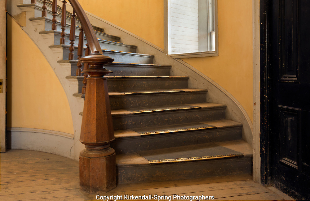 MT00048-00...MONTANA - Staircase at Hotel Meade in the historic ghost town of Bannack; now part of Bannack State Park.