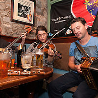 Traditional musicians playing a session in Fa Fa Considines Pub during the Ennis Trad Festival, 2014