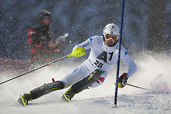 21.12.2011, Hermann Maier Weltcup Strecke, Flachau, AUT, FIS Weltcup Ski Alpin, Herren, Slalom 1. Durchgang, im Bild in Aktion Patrick Thaler (ITA) // Patrick Thaler of Italy in action during Slalom race 1st run of FIS Ski Alpine World Cup at 'Hermann Maier World Cup' course in Flachau, Austria on 2011/12/21. EXPA Pictures © 2011, PhotoCredit: EXPA/ Johann Groder