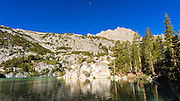 Second Lake under the Palisades, Big Pine Lakes basin, John Muir Wilderness, California USA