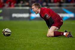 December 30, 2018 - Limerick, Ireland - Keith Earls of Munster scores their second try during the Guinness PRO14 match between Munster Rugby and Leinster Rugby at Thomond Park in Limerick, Ireland on December 29, 2018  (Credit Image: © Andrew Surma/NurPhoto via ZUMA Press)