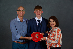 NEWPORT, WALES - Saturday, May 19, 2018: Jack Madelin and family during the Football Association of Wales Under-16's Caps Presentation at the Celtic Manor Resort. (Pic by David Rawcliffe/Propaganda)