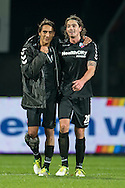 Onderwerp/Subject: FC Utrecht - Eredivisie<br /> Reklame:  <br /> Club/Team/Country: 5<br /> Seizoen/Season: 2012/2013<br /> FOTO/PHOTO: Adam SAROTA ( Adam Tomek SAROTA ) (L) of FC Utrecht and Dave BULTHUIS (R) of FC Utrecht celebrating victory after the match ( 1 - 5 ). (Photo by PICS UNITED)<br /> <br /> Trefwoorden/Keywords: <br /> #02 $94 &plusmn;1342772348418<br /> Photo- &amp; Copyrights &copy; PICS UNITED <br /> P.O. Box 7164 - 5605 BE  EINDHOVEN (THE NETHERLANDS) <br /> Phone +31 (0)40 296 28 00 <br /> Fax +31 (0) 40 248 47 43 <br /> http://www.pics-united.com <br /> e-mail : sales@pics-united.com (If you would like to raise any issues regarding any aspects of products / service of PICS UNITED) or <br /> e-mail : sales@pics-united.com   <br /> <br /> ATTENTIE: <br /> Publicatie ook bij aanbieding door derden is slechts toegestaan na verkregen toestemming van Pics United. <br /> VOLLEDIGE NAAMSVERMELDING IS VERPLICHT! (&copy; PICS UNITED/Naam Fotograaf, zie veld 4 van de bestandsinfo 'credits') <br /> ATTENTION:  <br /> &copy; Pics United. Reproduction/publication of this photo by any parties is only permitted after authorisation is sought and obtained from  PICS UNITED- THE NETHERLANDS