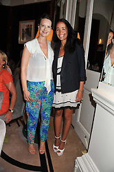 Left to right, ARABELLA MUSGRAVE and CARMEN BORGONOVO at a girl's lunch to celebrate the opening of Annoushka Ducas's new store Flagship Annoushka at 1 South Molton Street, London W1 on 26th July 2012.  Following drinks guests went for lunch at Claridge's, Brook Street, London.