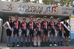 February 14, 2018 - Lagos, Portugal - Aviludo-Louletano-Uli before the 1st stage of the cycling Tour of Algarve between Albufeira and Lagos, on February 14, 2018. (Credit Image: © Str/NurPhoto via ZUMA Press)