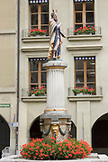 Switzerland, Berne Fontana del Mose old town Moses holding the ten commandments