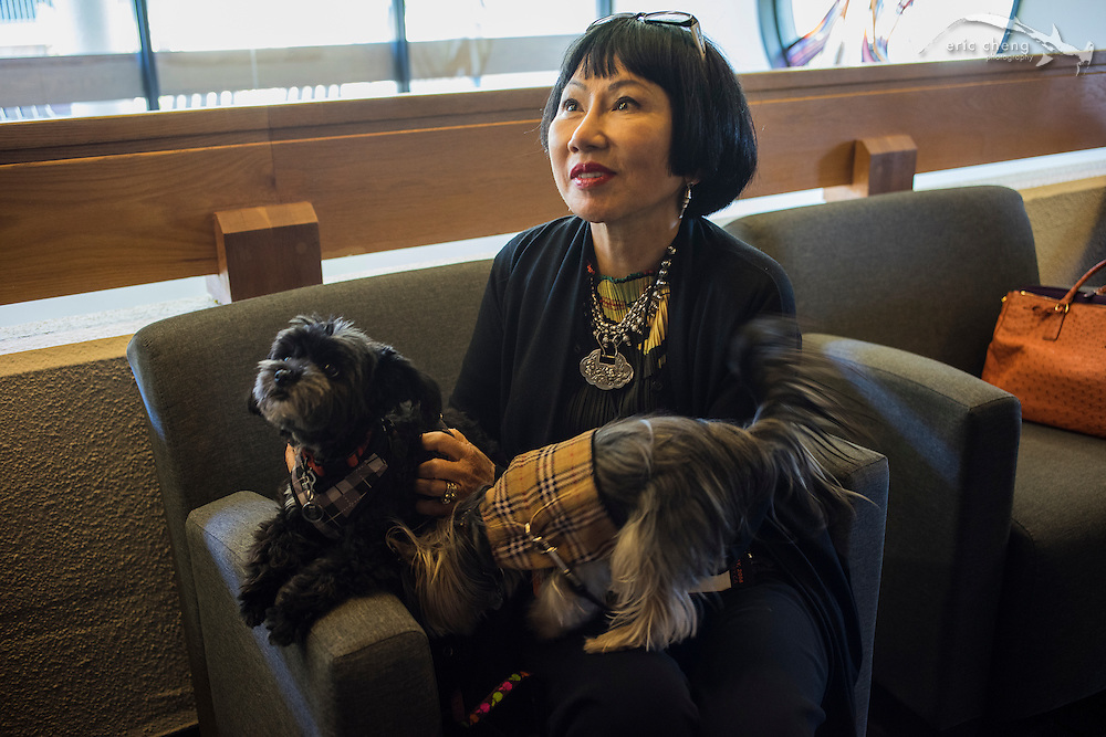 Amy Tan with Tux and Bobo #egconf #eg8