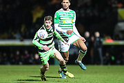 Forest Green Rovers Luke James(33) during the EFL Trophy 3rd round match between Yeovil Town and Forest Green Rovers at Huish Park, Yeovil, England on 9 January 2018. Photo by Shane Healey.