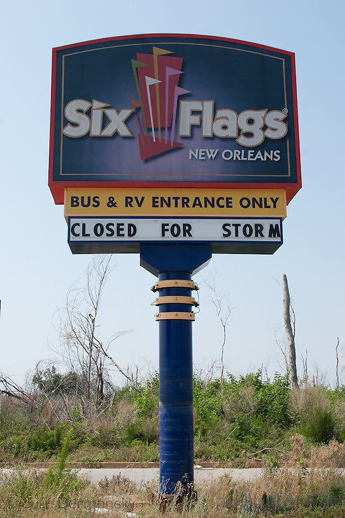 Six Flags in New Orleans East, destroyed by Hurricane Katrina
