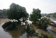 Paris . Flooding . The Seine river  in Paris city center