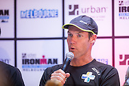 Cameron Brown (NZL). Ironman Melbourne Press Conference. Ironman Melbourne Triathlon. Asia Pacific Championship. URBAN HOTEL, St Kilda, Melbourne, Victoria, Australia. 22/03/2013. Photo By Lucas Wroe