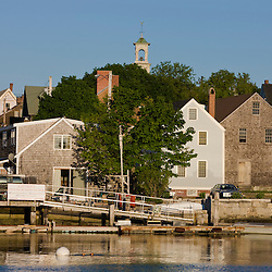 The South End in Portsmouth, New Hampshire. Piscataqua River. Geno's Chowder Shop.