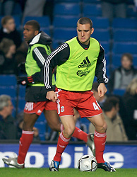 LONDON, ENGLAND - Wednesday, December 19, 2007: Liverpool's Jack Hobbs warms-up before the League Cup Quarter Final match against Chelsea at Stamford Bridge. (Photo by David Rawcliffe/Propaganda)