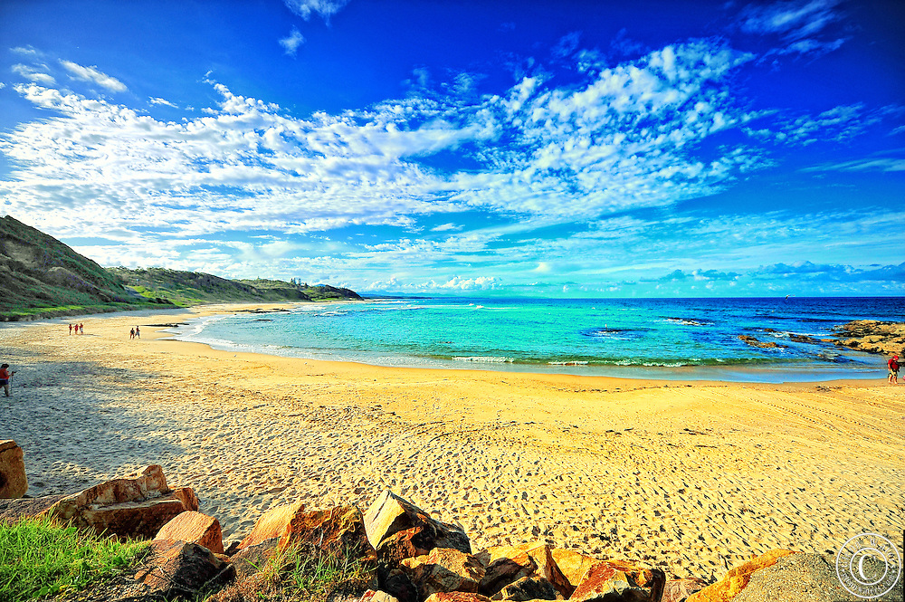 Shelley Beach located at Nambucca Heads NSW Australia.