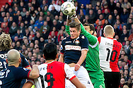 Onderwerp/Subject: Feyenoord - Willem II - Eredivisie<br /> Reklame:  <br /> Club/Team/Country: <br /> Seizoen/Season: 2012/2013<br /> FOTO/PHOTO: Lex IMMERS Player Number 10 (R) of Feyenoord in duel with Goalkeeper David MEUL (R) of Willem II and Jordens PETERS (C) of Willem II. (Photo by PICS UNITED)<br /> <br /> Trefwoorden/Keywords: <br /> #04 #21 $94 &plusmn;1342773947854<br /> Photo- &amp; Copyrights &copy; PICS UNITED <br /> P.O. Box 7164 - 5605 BE  EINDHOVEN (THE NETHERLANDS) <br /> Phone +31 (0)40 296 28 00 <br /> Fax +31 (0) 40 248 47 43 <br /> http://www.pics-united.com <br /> e-mail : sales@pics-united.com (If you would like to raise any issues regarding any aspects of products / service of PICS UNITED) or <br /> e-mail : sales@pics-united.com   <br /> <br /> ATTENTIE: <br /> Publicatie ook bij aanbieding door derden is slechts toegestaan na verkregen toestemming van Pics United. <br /> VOLLEDIGE NAAMSVERMELDING IS VERPLICHT! (&copy; PICS UNITED/Naam Fotograaf, zie veld 4 van de bestandsinfo 'credits') <br /> ATTENTION:  <br /> &copy; Pics United. Reproduction/publication of this photo by any parties is only permitted after authorisation is sought and obtained from  PICS UNITED- THE NETHERLANDS